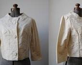 Montrose Crop Jacket • Fifties Brocade Jacket • Small Vintage Jacket