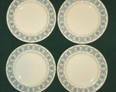 Corinthian 6 5/8 Inch Bread and Butter Plates, Set of 4, Taylor, Smith and Taylor, Taylorstone,