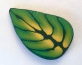 Polymer Clay Cane, Green Leaf, Raw, Unbaked Clay