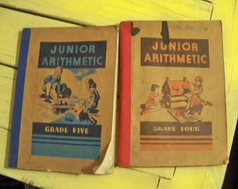 1943 junior arithmetic  books grade four and five