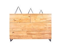 Modern Reclaimed Wood Dresser - Touch Release Drawers