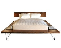 Reclaimed Wood Platform Bed Frame - handmade sustainably in Los Angeles