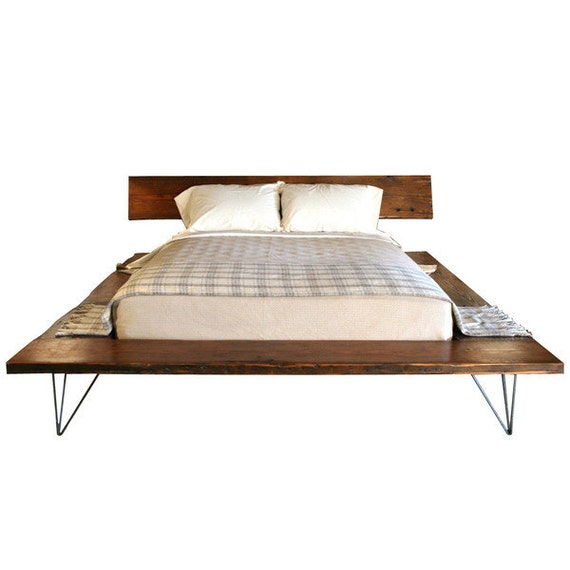 Reclaimed Wood Platform Bed Frame - handmade sustainably in Los ...