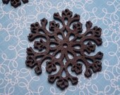 Wood Snowflake 38mm - 2pc
