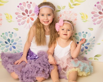 Girls Purple Deluxe Ruffle Skirt- Baby Skirt- Purple Skirt- Girls Skirt-Lace Petti-1st Birthday Outfit-Tutu skirt-Extra Fluffy Skirt