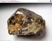 SALE Chunky Rootbeer Vesuvianite Crystal Encrusted w/ Orange Spessartine Garnets // Root & Sacral Chakra Stone, Mineral Specimen, Crystal He