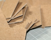 """Chipboard Square Cards (50) ... 1.5"""" Heavyweight Kraft Craft Supplies Tags Mixed Media Art Supplies Small Cards Square Art Mini Cards"""