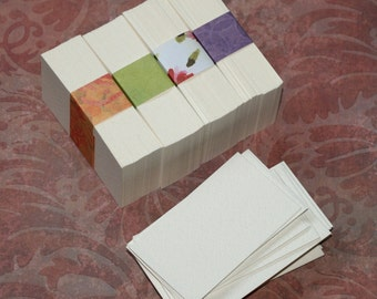 250 Business Cards ... Watercolor Paper Textured Cards Seller Supplies Artist Supplies Biz Cards Cold Press DIY Blank Cards Clearance Sale