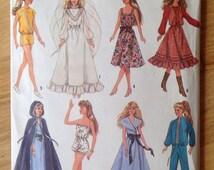 UNCUT Simplicity 8333 doll wardrobe