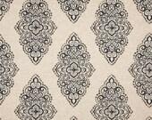 "Fabric shower curtain, Monroe blend oatmeal mercury cotton print, 72"", 84"", 90"", 96"", 108"" custom sizes available"