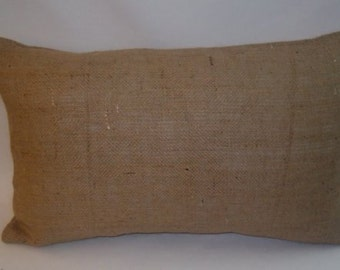 RTS Ready to ship Wholesale lot of 12 burlap pillow covers 20 x 12  inches, jute feedsack  for painting, stencils, screen print