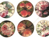 Shabby Chic, Rose Stickers, Rose Sticker Seals, 18 pcs