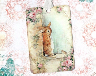 Rabbit Tags - Peter Rabbit Tags - by Luvcrystals
