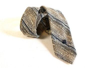 Vintage Gray Necktie - Jacques Estier Skinny Necktie