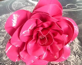 Pink Duct Tape Flower Pen