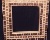 Pennies and copper glass mosaic mirror
