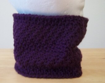 Cowl - Crochet Cowl in the color Eggplant