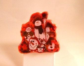 Christmas Snowmen Group pin, CT1433