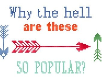Hipster Arrows Cross Stitch PATTERN