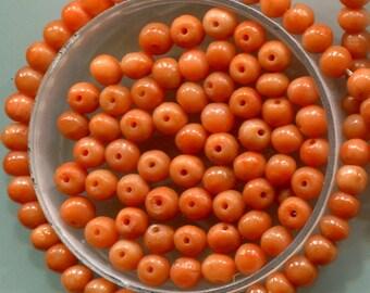 Antique Mediterranean Natural Coral, Loose Beads, Peach & Salmon Color, 5073.5161.5218