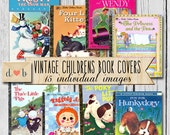 Digital Download - Vintage CHILDREN BOOK COVERS-  15 individual images