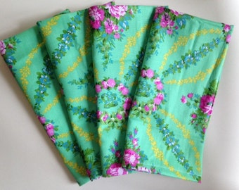 4 Handmade Cloth Napkins Jennifer Paganelli print