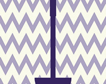 Utensil Chevron Kitchen Print - Very Violet