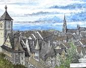 Freiburg Overlook large print