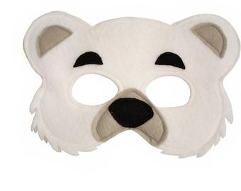 POLAR Bear Felt Mask for Children