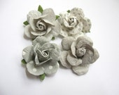 New Spring 2015 Collection - Handcrafted Paper Flower Lapel Pin / Boutonniere -Shades of Grey - you choose 1