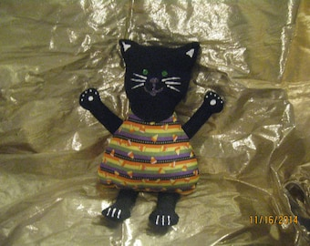 Plush Black Cat