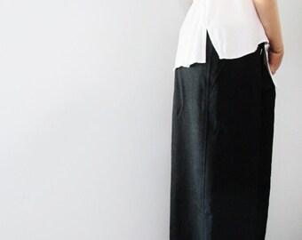 Y's Yohji Yamamoto Laine Wool Wide Leg Pants