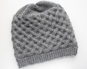 Knit winter Hat / Mens Hat / Gray Beanie / Knit gray Hat / Match baby hat / Celtic knot Hat / Adult Hat / Womens hat by Saidonia