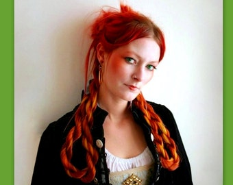 twist braid steampunk wedding pirate Costume wig hair extensions accessories reenactment custom color hairpiece belly dance falls Bellydance