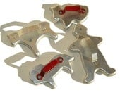 Vintage Cookie Cutters 50s Aluminum Animal & Gingerbread Man Molds
