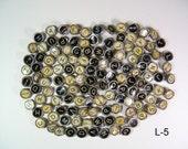 127 Vintage Typewriter Keys Mixed Lot Black & White - Free US Shipping L-5