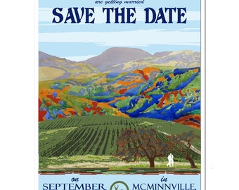 Vintage Carmel, CA Save the Date - SAMPLE