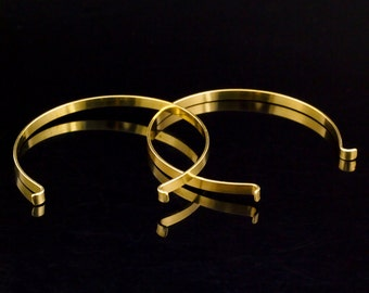 Bangle Base in Rich Low Brass - 4mm X 1mm