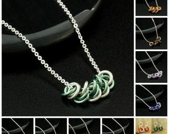 Lovely Maidens all in a Row Chainmaille Necklace Tutorial - Expert PDF