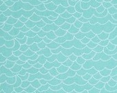 Storybook Lane Waves in Blue fabric by the yard