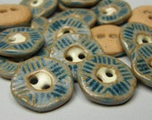 slate blue textured buttons