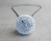 Purple Lampwork Necklace, Lavender Necklace, Sugar Glass Necklace, Purple Necklace, Oxidized Sterling Silver