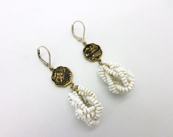 Handcrafted Earrings of Repurposed Vintage Findings One of a Kind