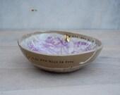 Yarn bowl knitting bowl unique handmade ceramic pottery
