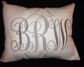 Monogrammed pillow 12x14