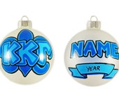 Personalizable Kappa Kappa Gamma Ornament with Fleur-de-Lis