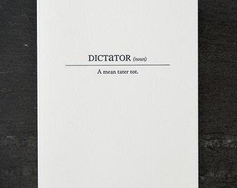 dictator card. #156