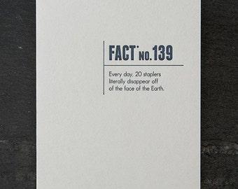 staplers. letterpress card. #331