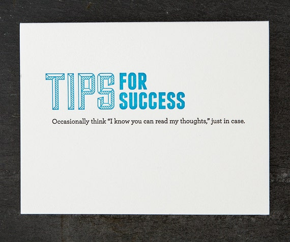 thoughts. letterpress card. #127