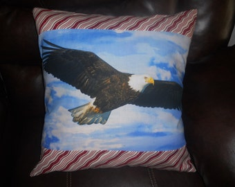 Eagle -  20 inch Throw Pillow (Cover Only)